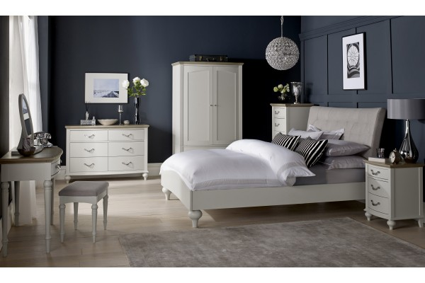Montreux Washed Oak with Soft Grey Bedroom -Queen and Double Available