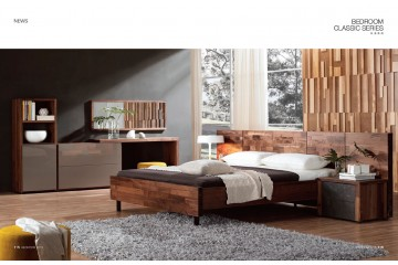 NORYA American Walnut Lowline QUEEN BED