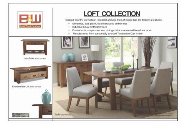 LOFT Sofa Table, Solid Tasmanian Oak