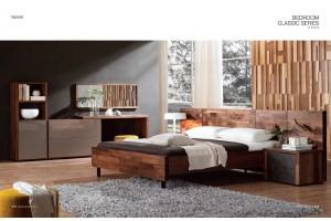 NORYA American Walnut Lowline QUEEN BED