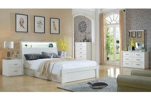 Chicago High Glossy Bed with Storage