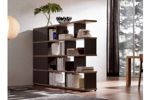 NORYA American Walnut bookcase/room divider