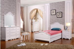 MELODY KIDS BED WITH SINGLE TRUNDLE (SINGLE AND KINGSINGLE AVAILABLE)