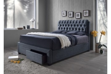 BYRON Full Upholstered Bed with Storage