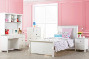 Violet Bed Frame (King Single and Single size available), Solid Hard Wood
