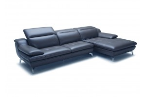 Klassik Full Leather Chaise Lounge, Chaise on Right (when facing)