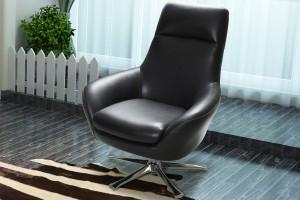 Savona Single Swivel Chair, Full Belgium Leather