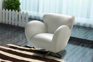 Barona Single Swivel Chair, Full Belgium Leather