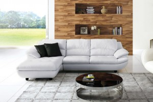 Klassik Full Leather Chaise Lounge, Chaise on Left (when facing)