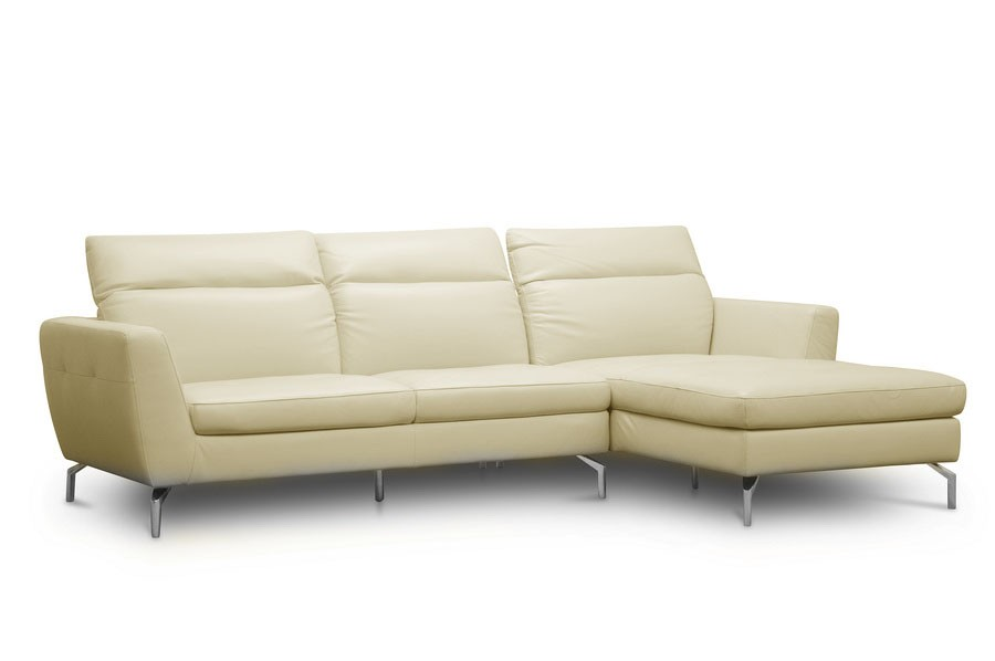 Elbasan Full Leather Chaise Lounge, Limited stock
