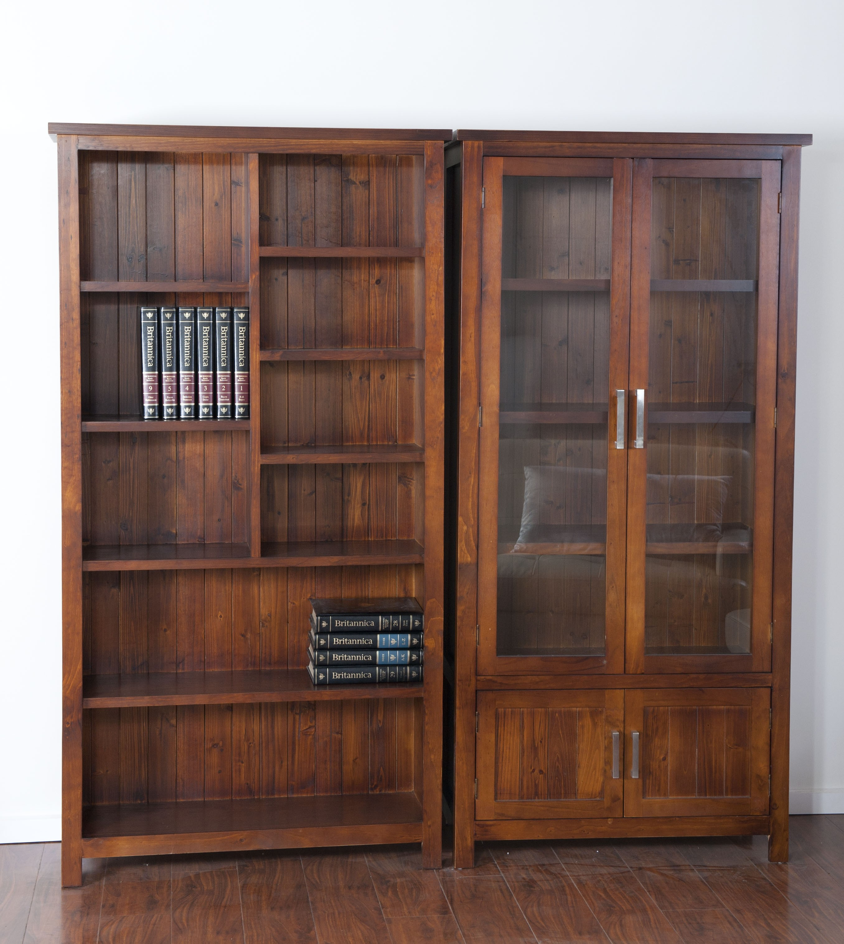 Urban Solid Wood Bookcase Suite