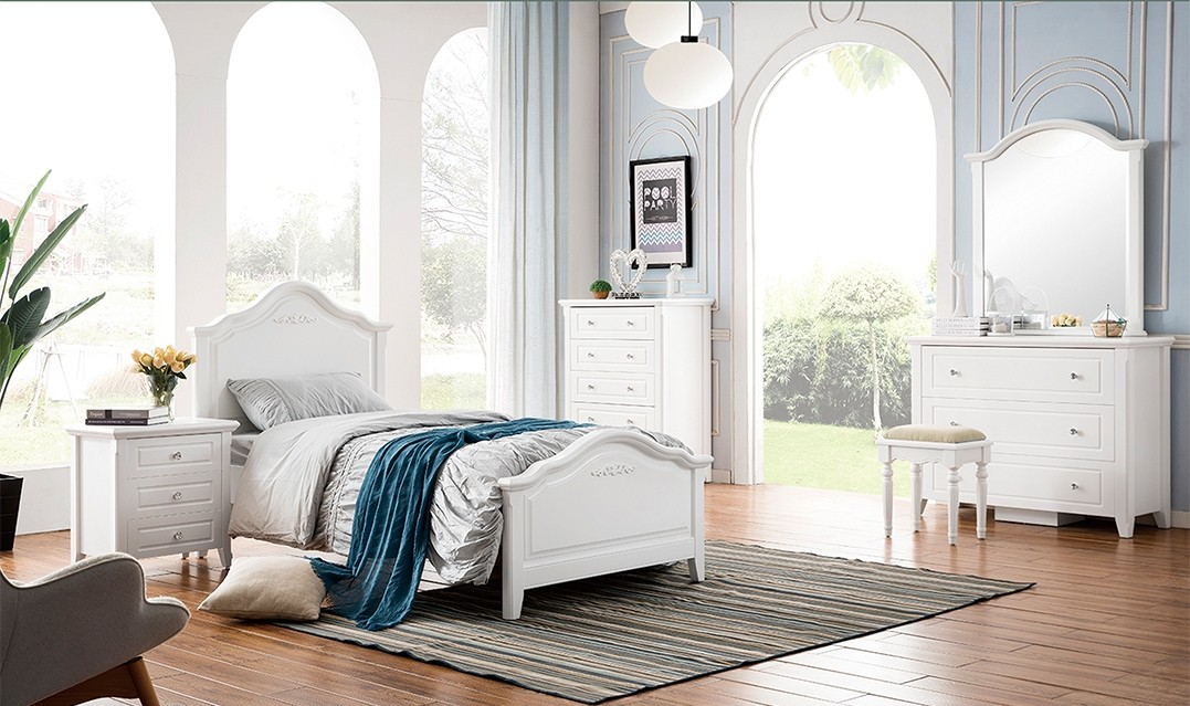 MELODY KIDS BED WITH SINGLE TRUNDLE