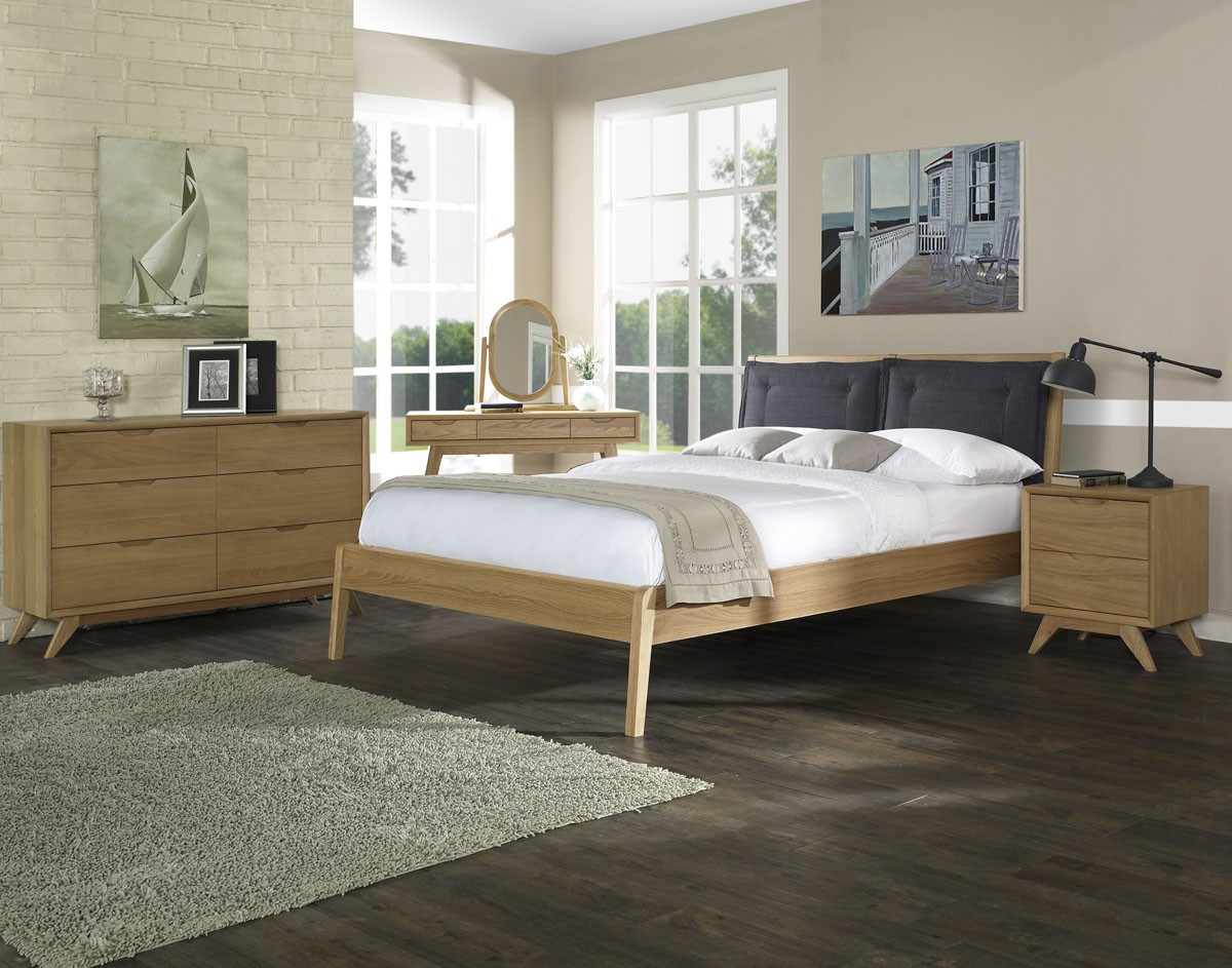 Milano American Oak Bedroom -Queen and King Available