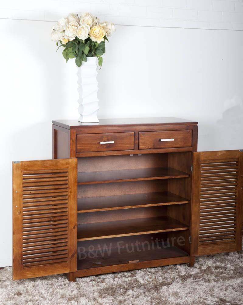 Urban SoildWood Shoe Cabinet-OPEN